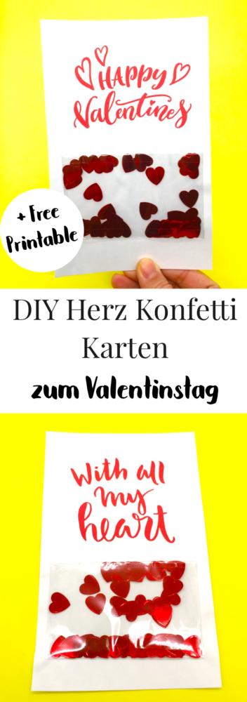 Valentinstag Karten selber machen süße DIY Geschenke selber machen