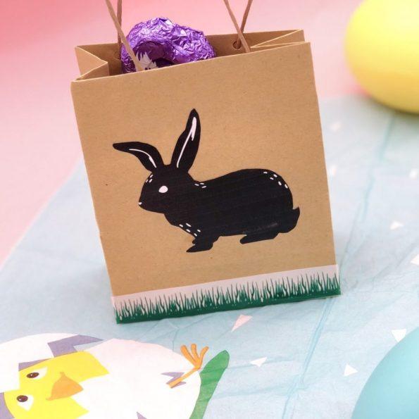 Ostergeschenke selber machen aus Papiertüten