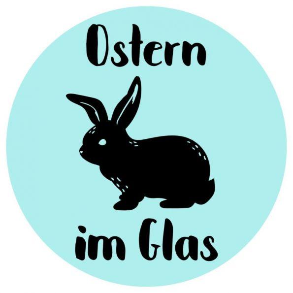 Osternest basteln im Glas Free Printable schwarz