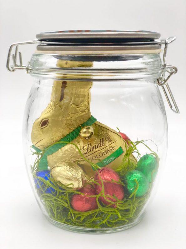 Süße DIY Geschenke zu Ostern - Osterhase im Glas