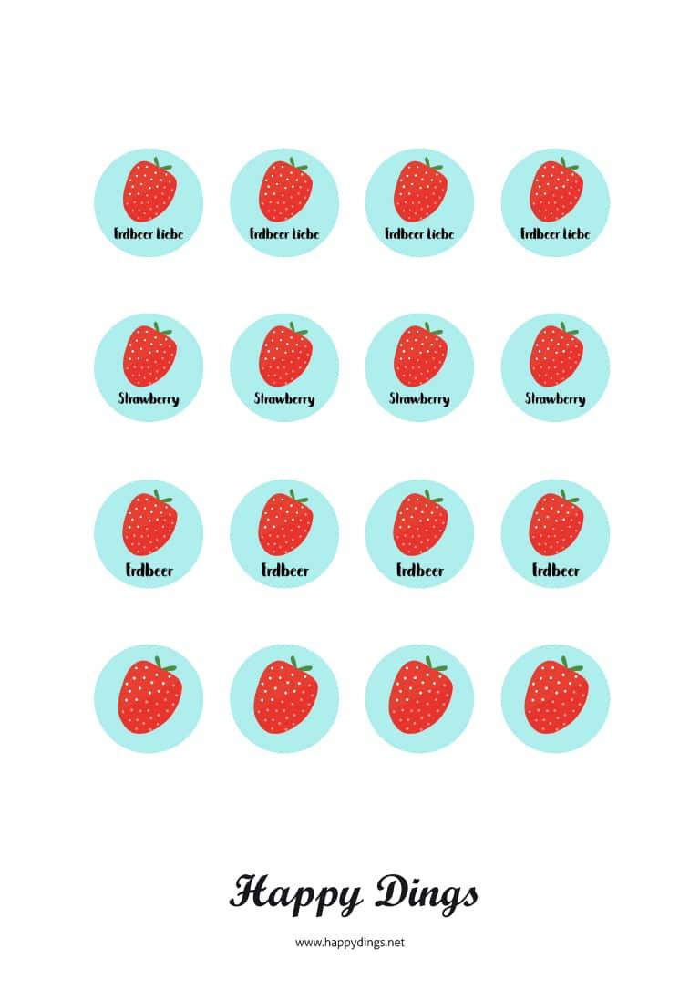 Basteln im Sommer - Erdbeer Lippenbalsam selber machen