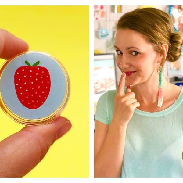 Basteln im Sommer – Lippenpflege selber machen mit Erdbeer Duft