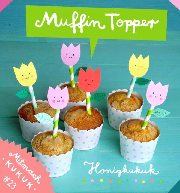 Muffig Popper basteln Idee für das Blumen basteln