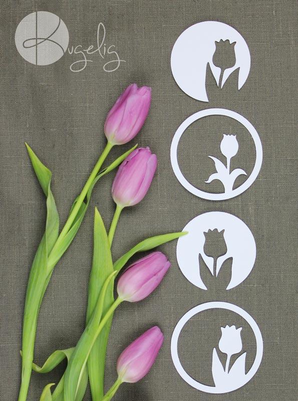 Papierblumen basteln als Frühlingsdekoration von kugelig