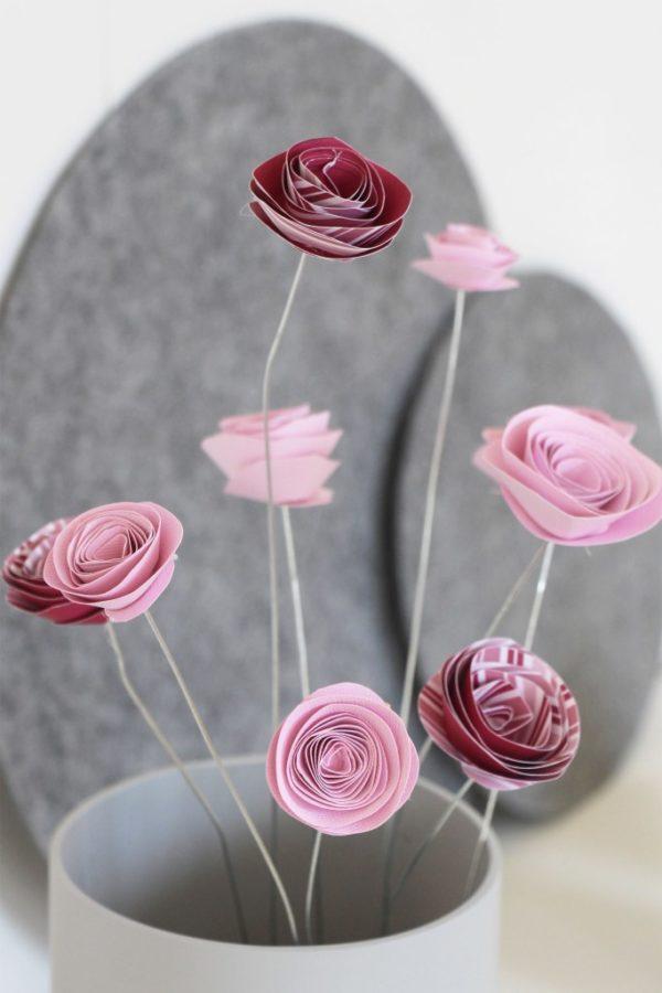 Papierblumen von Schönes & Leben ideale Frühlingsdekoration