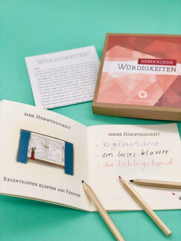 Süße Geschenkidee - das Büchlein der 7 Würdigkeiten