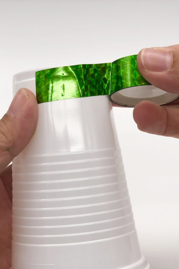 DIY Ideen für die Party Pappbecher mit Washi Tape bekleben