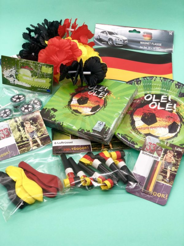 Fußball Party Set Gewinnspiel in Zusammenarbeit mit OTTO