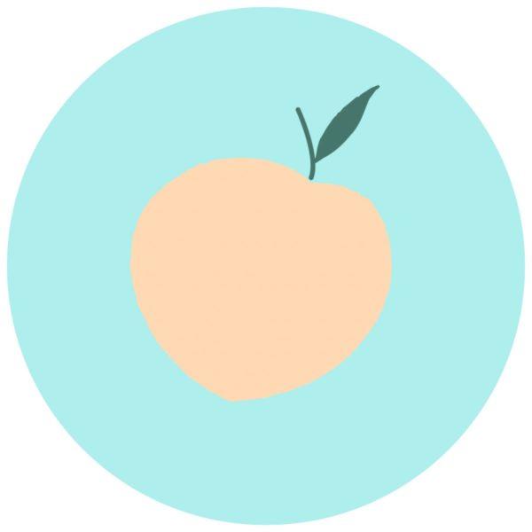 Happy Pfirsich: Free Printable für die Sommerparty