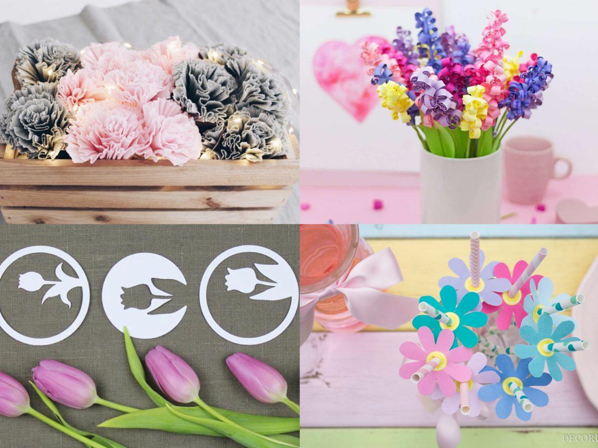 Papierblumen basteln – Frühlingsdeko selber machen