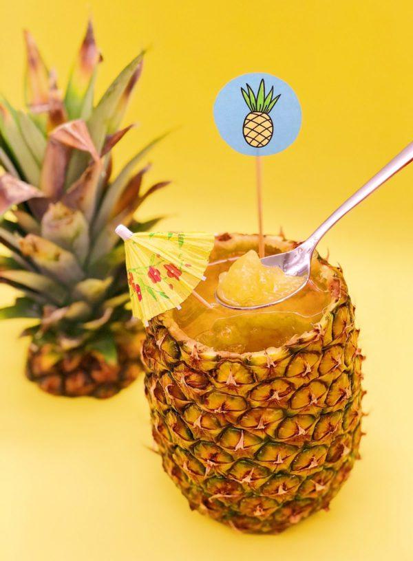 schöne Ideen für die Sommerparty: Vegane Ananas Wackelpudding selber machen