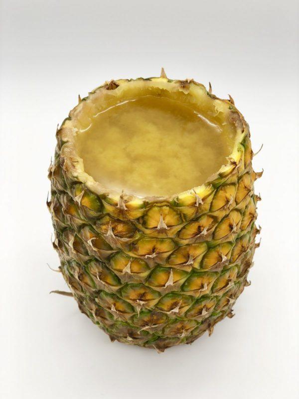 Veganer Wackelpudding selber machen in der Ananas