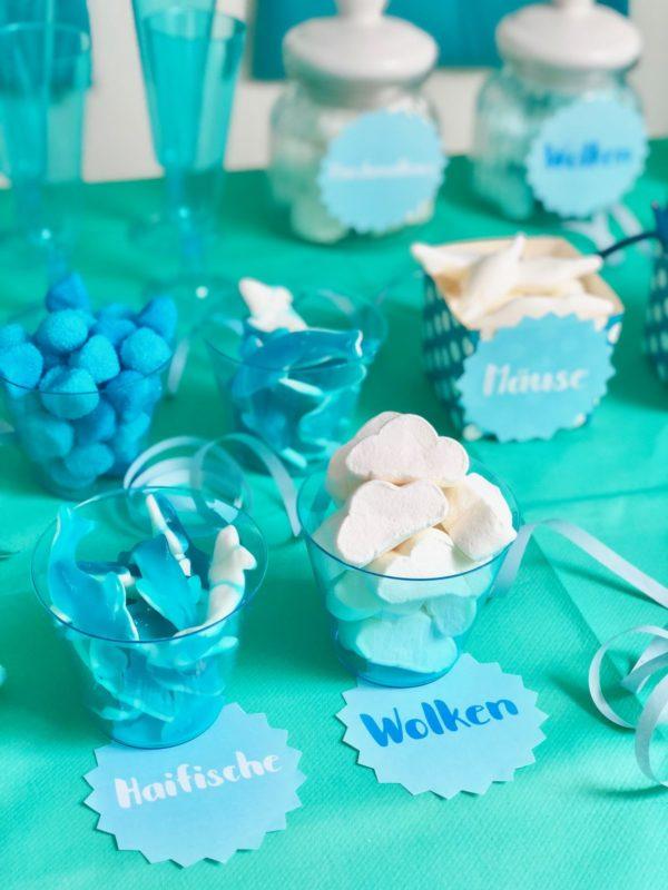Candy Bar mit selbst gemachten Etiketten
