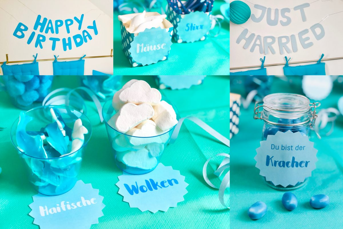 Candy Bar Selber Machen Blau Weiß