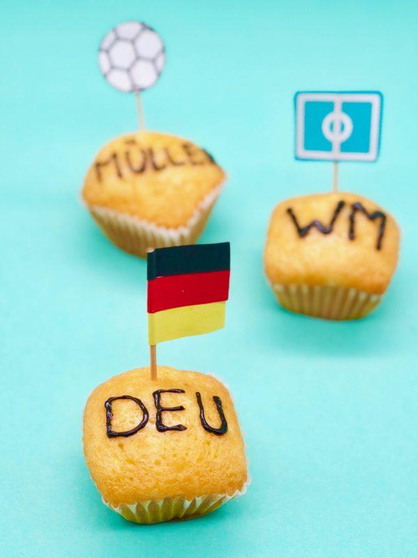 Deutschland Muffins als schnelle Snacks für die Fußball Abend
