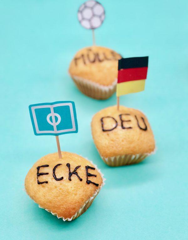 Fußball Muffins als schnelle Snacks für die Fußball WM