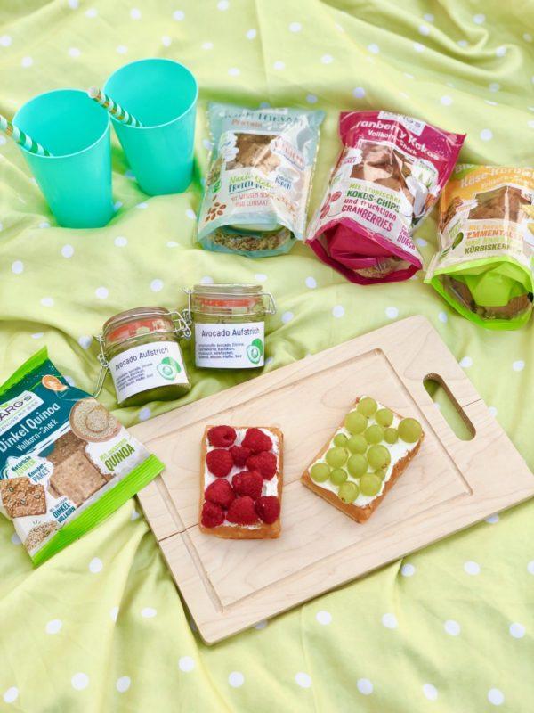 Ideal zum Picknicken, vegane Waffeln, Vollkorn-Snack von Dr. Karg´s und Aufstrich