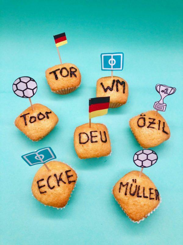 Muffins als schnelle Snacks für die Fußball WM selber machen