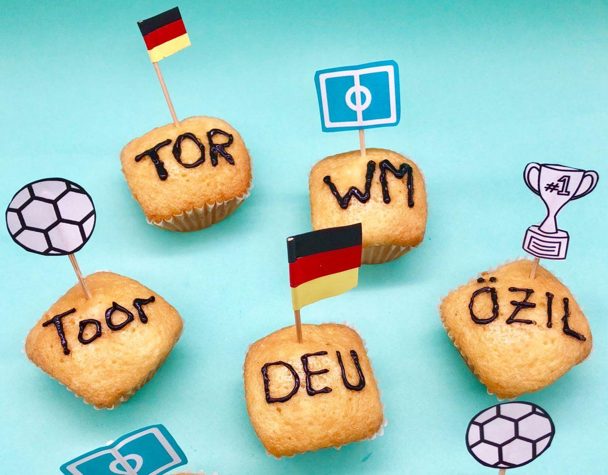 WM Muffins – schnelle Snacks für die Fußball WM