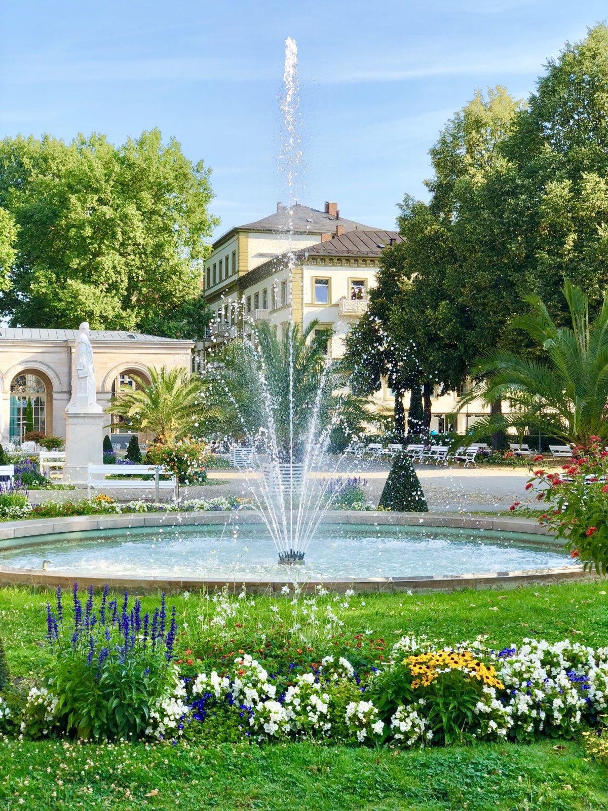 Der Kurgarten in Bad Kissingen - wunderschönes Ambiente