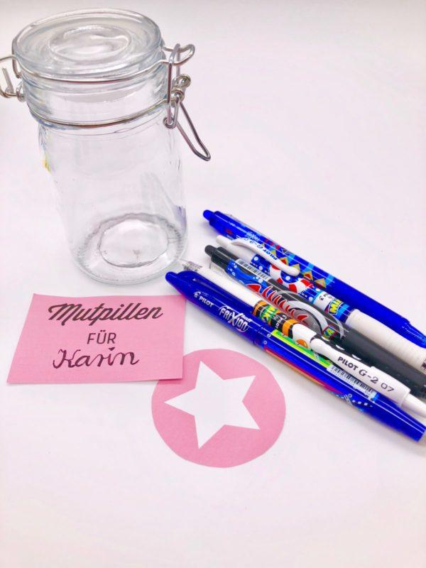 Geschenke um Glas selber machen mit PILOT Stiften