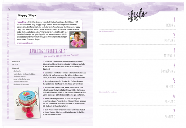Screenshot von DIY Blog Happy Dings aud dem Buch Mein kreatives Jahr