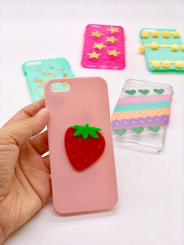 Süße Idee: Super edel: Handyhülle selber gestalten mit Filz Erdbeeren