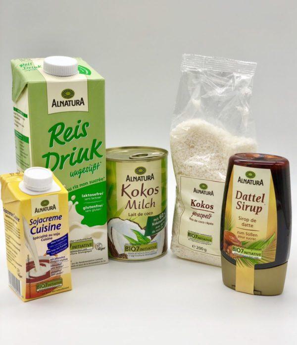Die Zutaten für das vegane Eis mit der Eismaschine von Klarstein