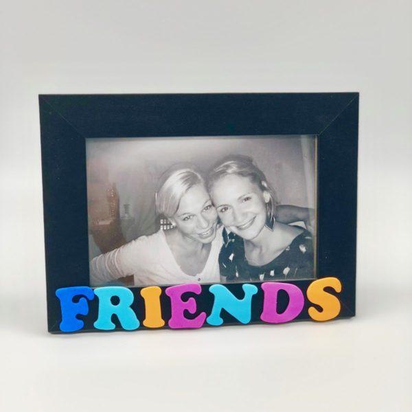 Bilderrahmen verschönern für die Freundin mit fingerbook