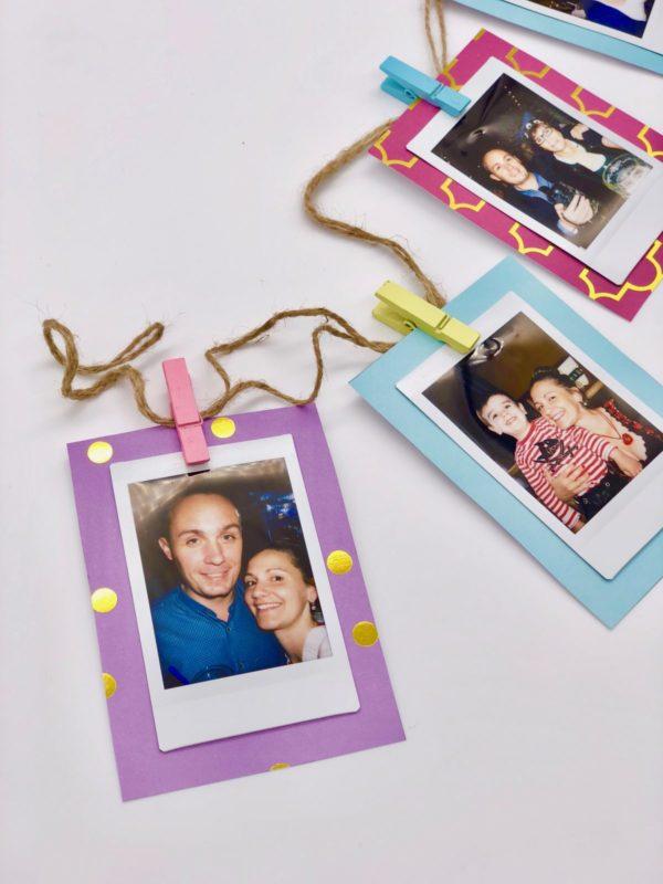 DIY Fotogeschenke - Girlande mit Wäscheklammern selber machen mit fingerbook