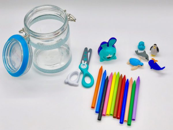 Geschenke zur Einschulung - Schul Material im Glas verschenken