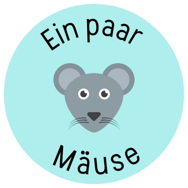 Vorlage für ein einfache Geldgeschenk: Mäuse Motiv