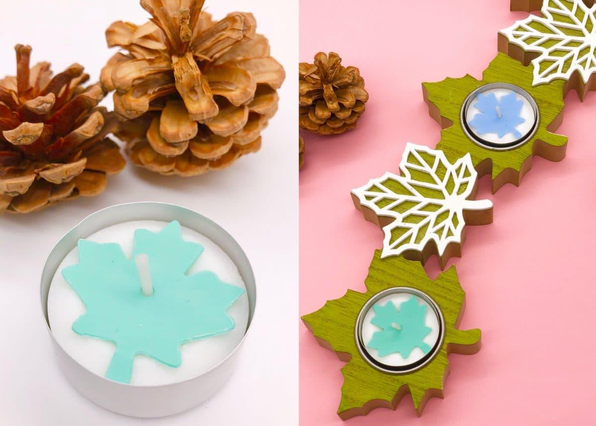Herbstdeko selber machen - süße herbstliche DIY Teelichter