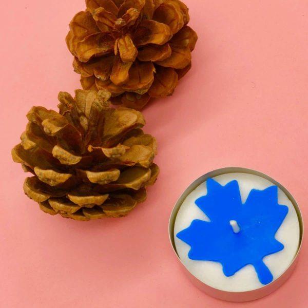 Süße Ahornblatt Teelichter selber machen - Herbstdeko basteln für zuhause