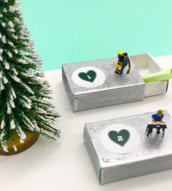 Süße Ideen für Adventskalender mit Gutscheinen selber machen