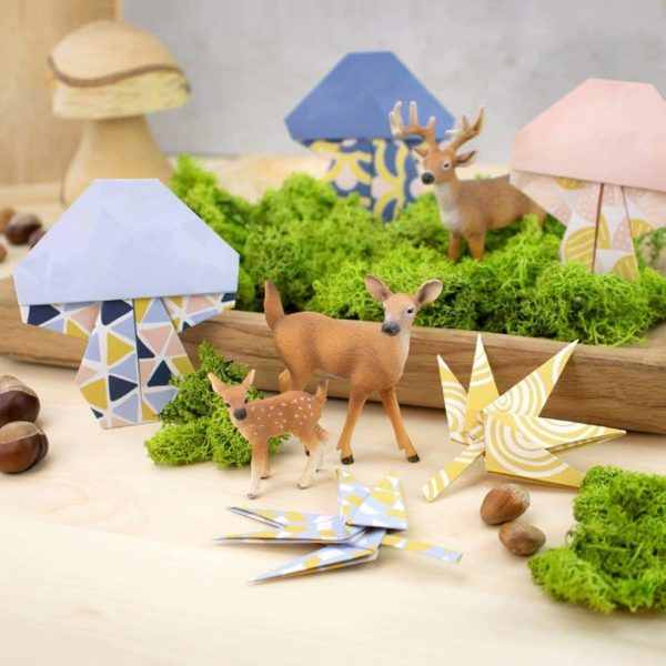 Süße Pilze aus Papier - schöne Idee für das Herbstbasteln von Kreativliebe