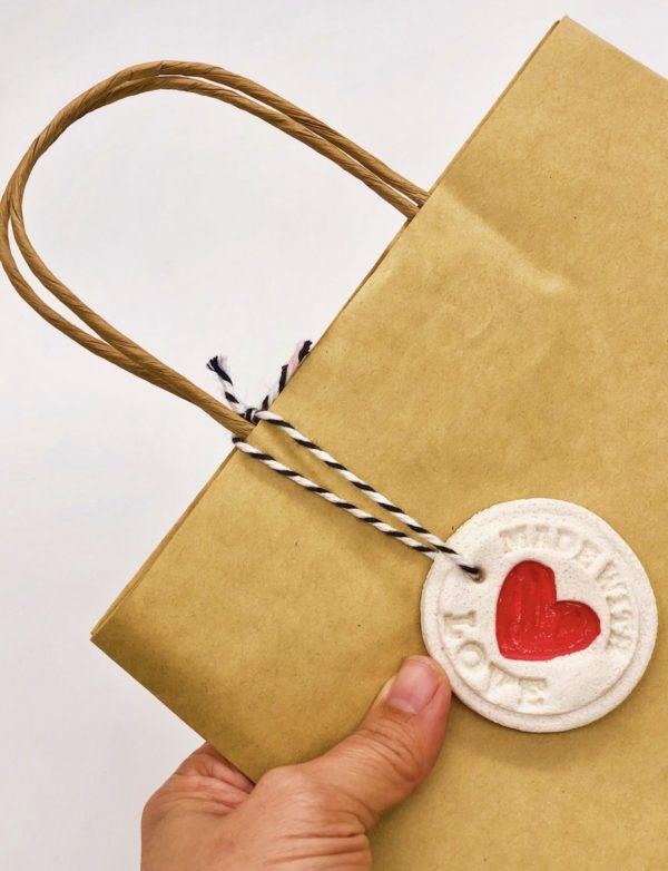 Anhänger aus Salzteig selber machen - für Tüten und Geschenke