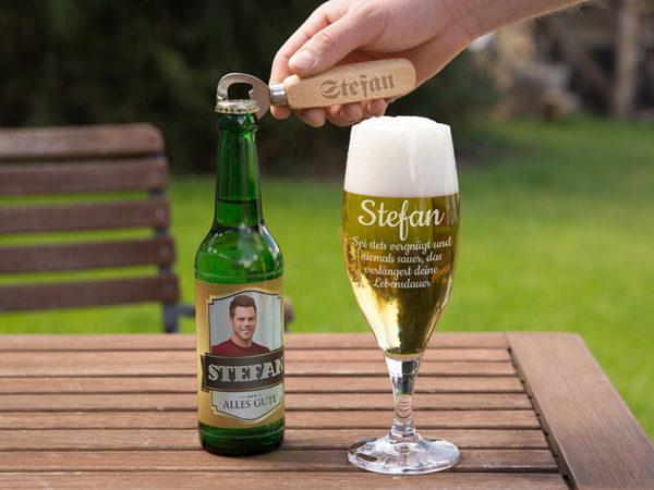 Geschenkideen für Männer - personalisierte Biergläser
