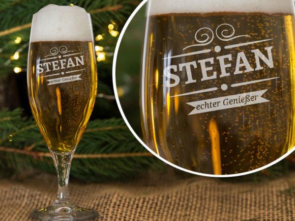 Geschenke für Männer - personalisierte Biergläser