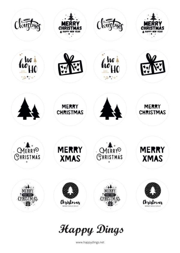 Kostenlose Vorlage für Weihnachts Teelichter mit Botschaft
