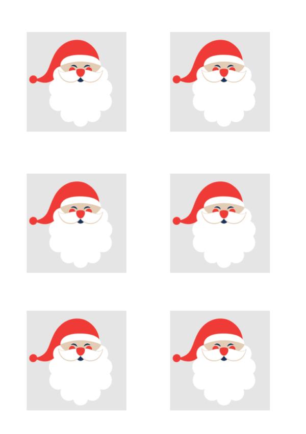 Lichterkette basteln für Weihnachten mit VARTA Vorlage Weihnachtsmann