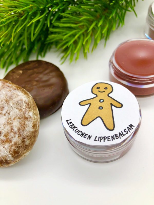 Lippenbalsam mit Lebkuchen Duft selber machen plus Free Printable