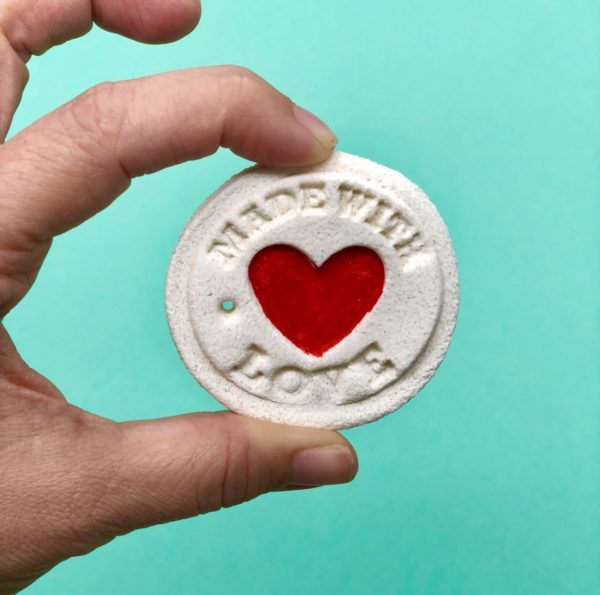 Made with love: Anhänger aus Salzteig selber machen