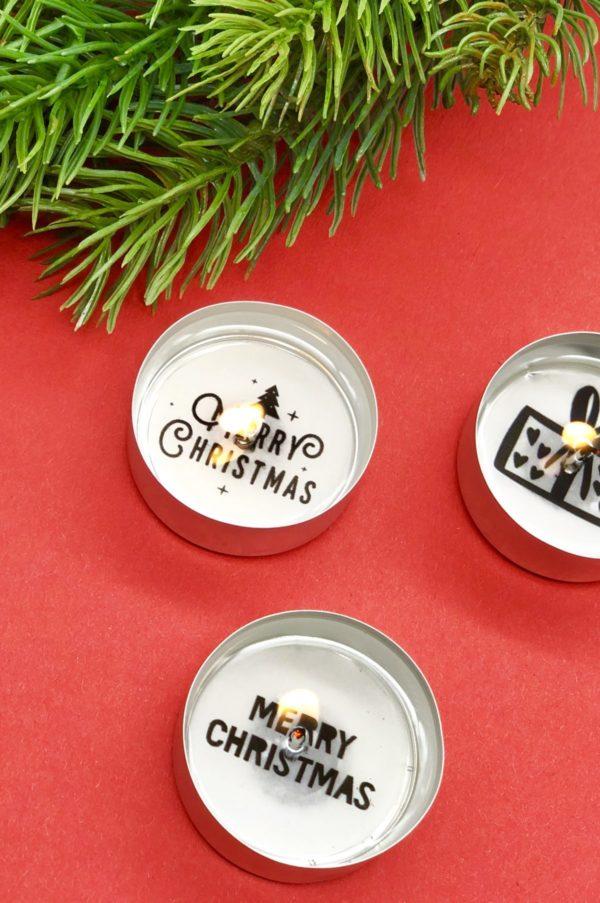 Merry Christmas - süße Weihnachtsdeko mit Teelichter selbst gestalten