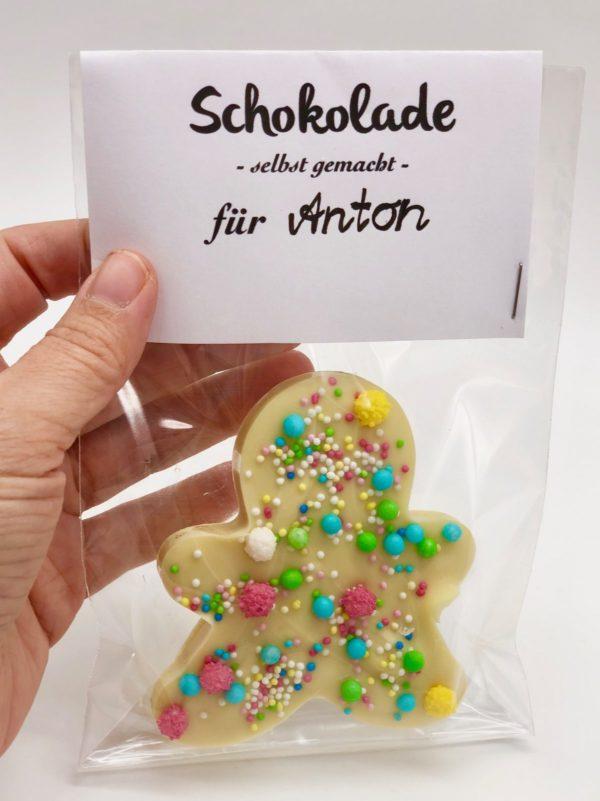 Schokolade schmelzen und selber verzieren - süße DIY Geschenke