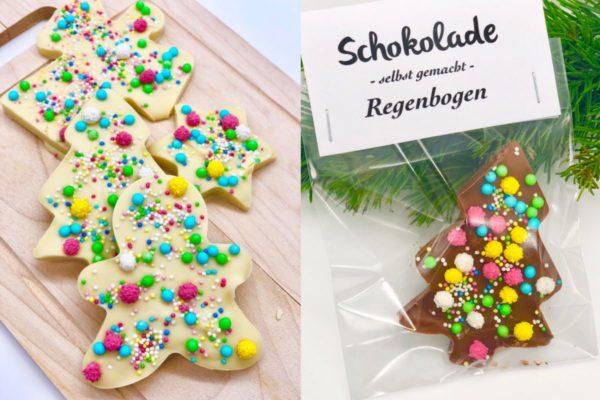 Schokolade schmelzen und verzieren - einfache Geschenkideen selber machen