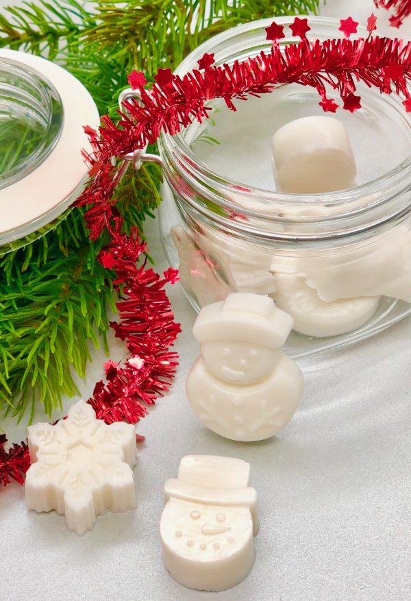 Seife im Glas verpacken - schöne Geschenkidee zu Weihnachten