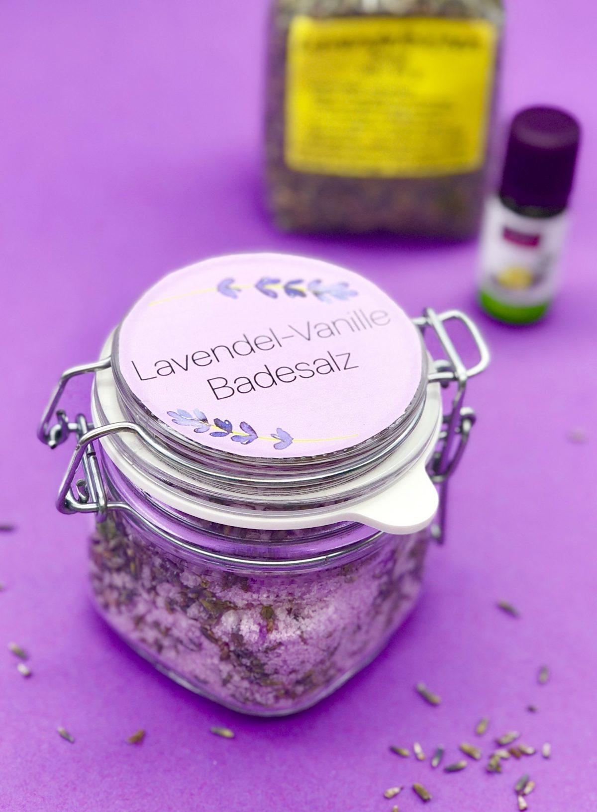 Beliebt Lavendel Badesalz selber machen - Rezept und Anleitung mit Video MZ85