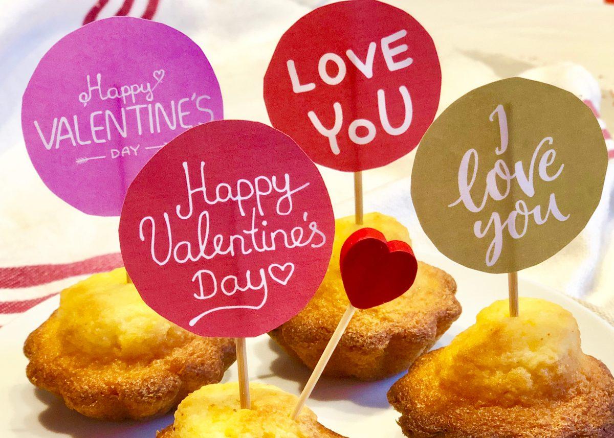 Cake Toppers als Kuchendeko zum Valentinstag als DIY Geschenke selber machen