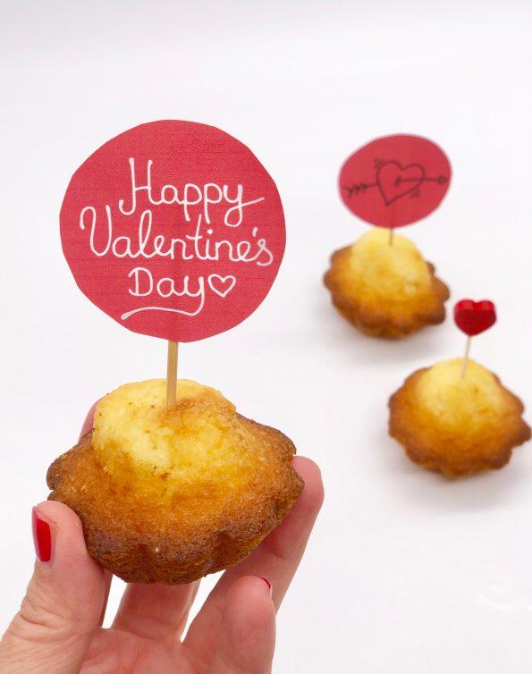 Caketopper zum Valentinstag selbst machen - süße Geschenke